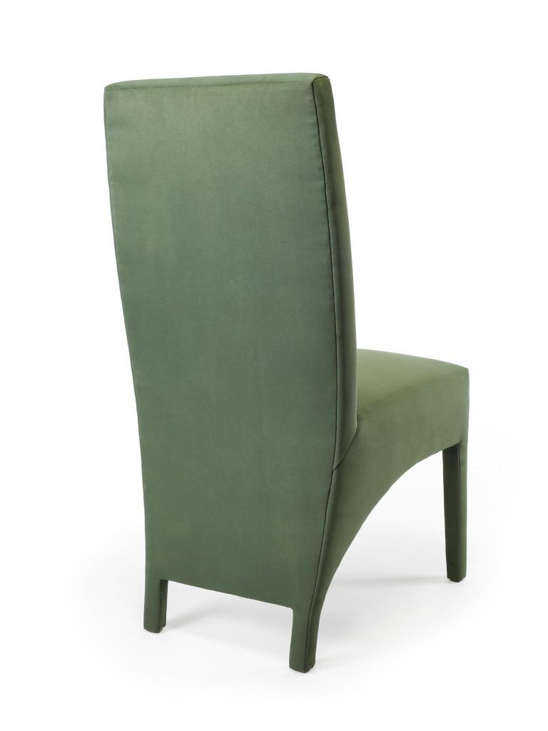 Tailored Chair, Back Angled View, Sara Jaffe